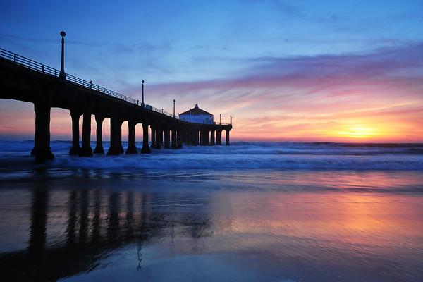 Blue Huntington Beach Pier - canvass