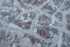 Death Valley, Patterns - Brown mud with white salt lines, above