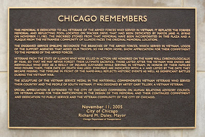 The Vietnam Veteran's Memorial for Chicagoans - Chicago, IL ... September 22, 2006 ... Photo by Rob Page III