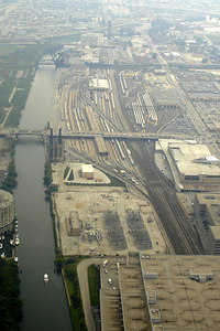 Chicago's railroads, from the top of the Sears Tower - Chicago, IL ... September 22, 2006 ... Photo by Rob Page III