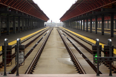 LaSalle Train station.  This is the main terminal for the Metra coming in from the suburbs - Chicago, IL ... September 22, 2006 ... Photo by Rob Page III