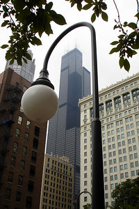 The Sears Tower rises above the city - Chicago, IL ... September 22, 2006 ... Photo by Rob Page III