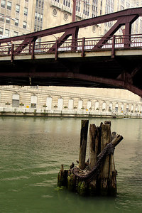 Down along the South Branch of the Chicago River near the Chicago Opera Building - Chicago, IL ... September 22, 2006 ... Photo by Rob Page III