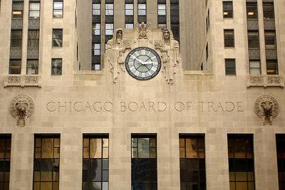 The Chicago Board of Trade at the end of Lasalle Street - Chicago, IL ... September 22, 2006 ... Photo by Rob Page III