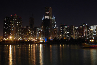 The skyline at night - Chicago, IL ... September 23, 2006 ... Photo by Rob Page III