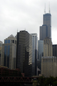 The Sears Tower rises above the city - Chicago, IL ... September 23, 2006 ... Photo by Rob Page III