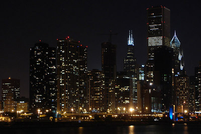 The night skyline - Chicago, IL ... September 23, 2006 ... Photo by Rob Page III