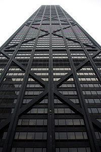 John Hancock Center.  This is one of the most iconic buildings of Chicago and the world.  Completed in 1969, It rises 1,127 feet with 100 floors - Chicago, IL ... September 23, 2006 ... Photo by Rob Page III