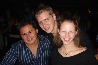 Rob and Emily hanging out with Carlos at a bar in Gold Coast - Chicago, IL ... September 23, 2006 ... Photo by Sammy