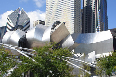 Pritzker Pavilion by Frank Gehry is the centerpiece of Millenium Park - Chicago, IL ... September 24, 2006 ... Photo by Rob Page III