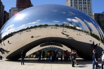 The Cloud Gate - Chicago, IL ... September 24, 2006 ... Photo by Rob Page III