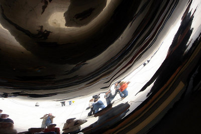 Reflections inside the Cloud Gate - Chicago, IL ... September 24, 2006 ... Photo by Rob Page III