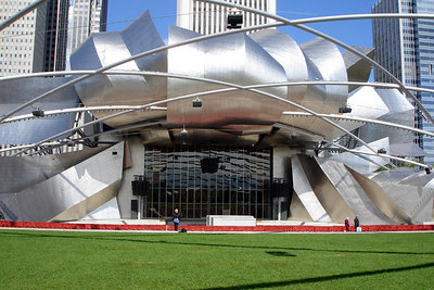 Pritzker Pavilion, by Frank Gehry, is the centerpiece of Millenium Park - Chicago, IL ... September 24, 2006 ... Photo by Rob Page III