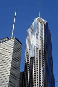 Two Prudential Plaza.  Constructed in 1990, it rises 995 feet - Chicago, IL ... September 24, 2006 ... Photo by Rob Page III