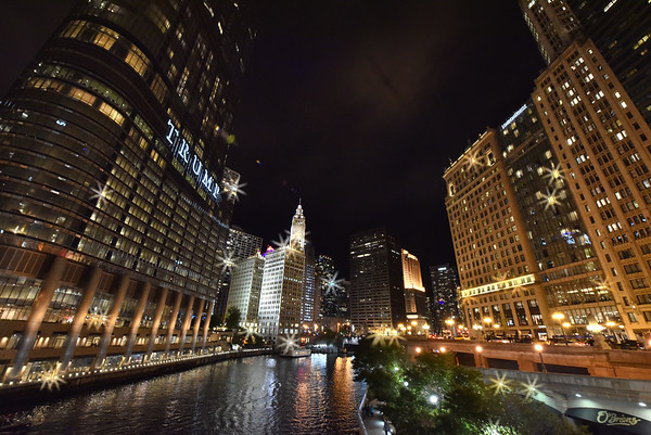 Chicago Skyine at night