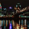Ohio River Towards Roebling Bridge to Cincinnati