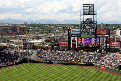 The Rockies rise in the background - Denver, CO ... September 21, 2008 ... Photo by Rob Page III