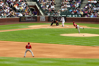 And there's the pitch - Denver, CO ... September 21, 2008 ... Photo by Rob Page III