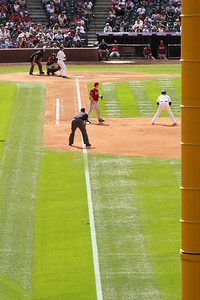 The view down the first base line - Denver, CO ... September 21, 2008 ... Photo by Rob Page III