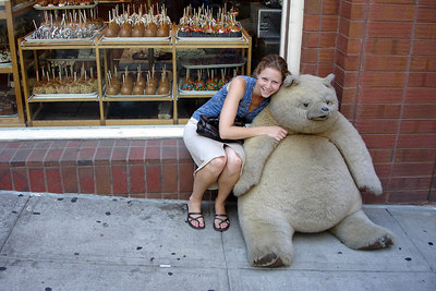 Emily, consoling the teddy-bear - Denver, CO ... July 13, 2006 ... Photo by Rob Page III