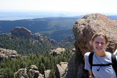Emily at the top of Devil's Head - San Isabel National Forest, CO ... July 14, 2006 ... Photo by Rob Page III