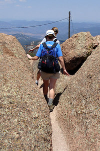 The path at the top of Devil's Head - San Isabel National Forest, CO ... July 14, 2006 ... Photo by Rob Page III
