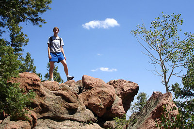 Emily, enjoying the hike - San Isabel National Forest, CO ... July 14, 2006 ... Photo by Rob Page III