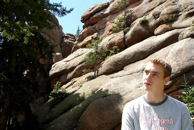 Rob, enjoying the meadow - San Isabel National Forest, CO ... July 14, 2006 ... Photo by Emily Conger