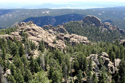Looking east from the top of Devil's Head - San Isabel National Forest, CO ... July 14, 2006 ... Photo by Rob Page III