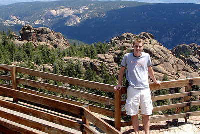 Rob, at the top of Devil's Head - San Isabel National Forest, CO ... July 14, 2006 ... Photo by Emily Conger