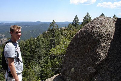Rob, enjoying the outdoors - San Isabel National Forest, CO ... July 14, 2006 ... Photo by Emily Conger