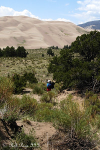 Jen hiking - Great Sand Dunes National Park, CO ... July 15, 2006 ... Photo by Rob Page III