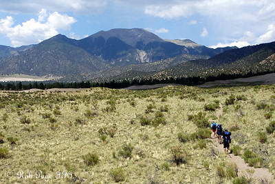Hiking in the Great Sand Dunes National Park, CO ... July 15, 2006 ... Photo by Rob Page III