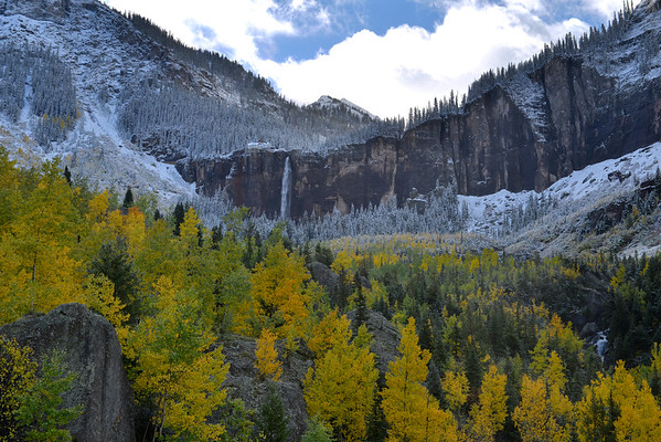 The Telluride canyon and waterfall