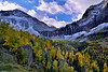 Telluride mountains and Bridal Veil Falls