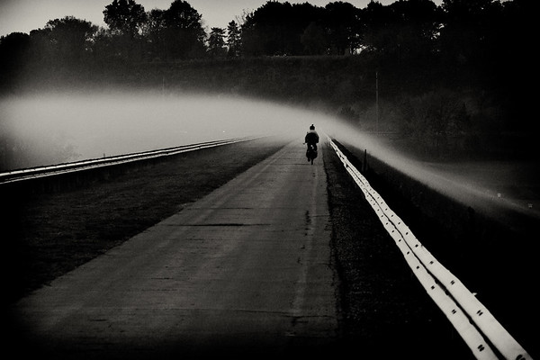 Huffman Dam Foggy Bicycle