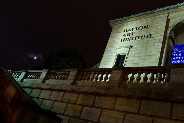 Dayton Art Institute with Moon