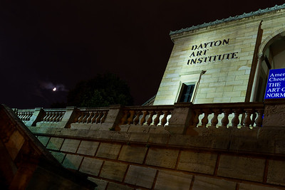 Dayton Art Institute with Moon