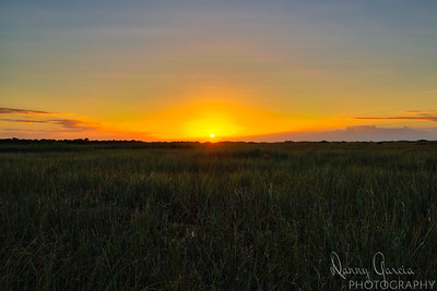 Sunset in the East Everglades
