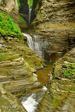 Vertical of three falls