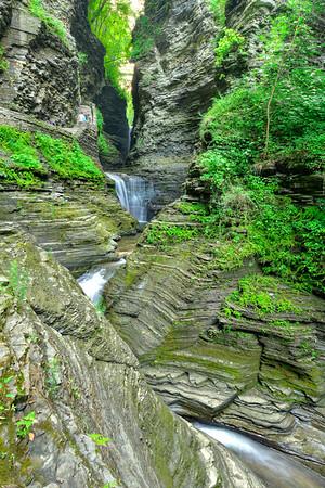 Two lower waterfalls vertical
