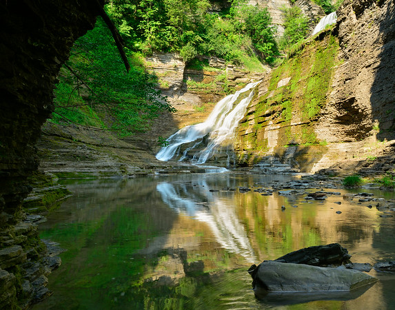 Lovely reflection of Lower falls