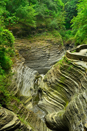 Erosion of Watkins Glen Gorge