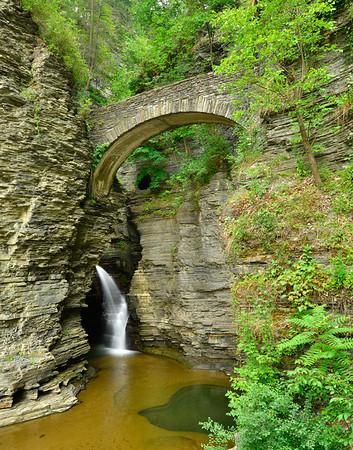 Bridge and waterfalls Vertical
