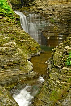 Two waterfalls Vertical