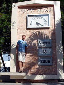 Rob at Miami Beach - Miami Beach, FL ... September 18, 2005 ... Photo by unknown