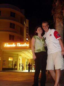 Liora and Rob in front of the Lincoln Theatre - Miami Beach, FL ... September 18, 2005 ... Photo by Rob Page III