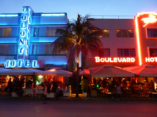 Art Deco Hotels, Miami Beach - USA