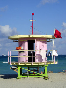 10th St. Lifeguard stand - Miami Beach, FL ... September 18, 2005 ... Photo by Rob Page III