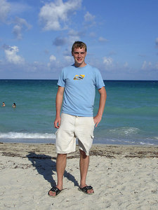 Rob on South Beach - Miami Beach, FL ... September 18, 2005 ... Photo by unknown Columbian